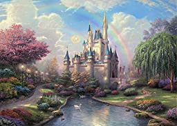 Ouyida Fairy tale castle 7\' x 5\' CP Pictorial cloth photography Background Computer-Printed Vinyl Backdrop TP50