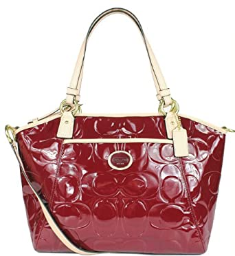 Coach 20028 Peyton Embossed Patent Leather Pocket Tote