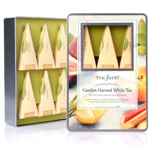 Tea Forte Medium Tin Sampler Collection - Garden Harvest Whites