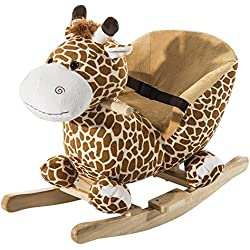 homcom 330-011 - Schaukelpferd Kinder Plüsch Giraffe