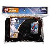 Starter 10-Pair Men's Black No Show Socks 6-12