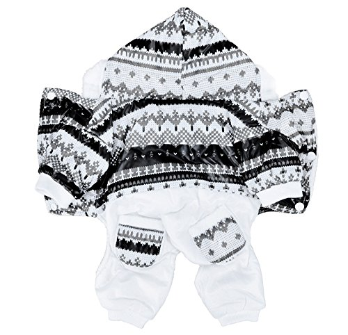 Ashopz Puppy Winter Hooded Jumpsuit W/ Snowflake Design,S front-795166