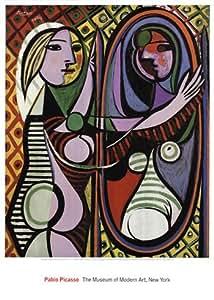 Pablo Picasso Poster Kunstdruck Bild Mdchen vor Spiegel