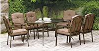 Patio Dining Set 7-piece Brookwood Landing, a Beautiful Outdoor Lawn Furniture Set