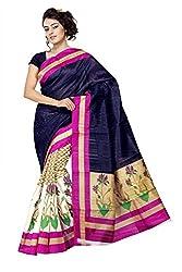 Prerana Silk Mills Rimzim Bhagalpuri Saree
