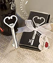Heart Accented Key Bottle Opener Favor (Set of 50) - Wedding Party Favors