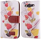 Wild Wolf Best Design with Coolest Premium Art Series Fashion style Type Magnet Design Stand Card Holder Colorful Wallet Folio Flip Cover Case for Samsung Galaxy S3/S III I9300 (GALAXY S3, A)