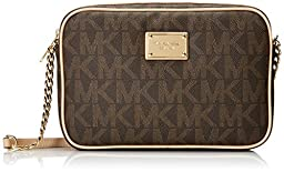 Michael Kors Jet Set Women\'s Large Crossbody Handbag Brown