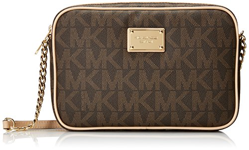 Image of Michael Kors Jet Set Women's Large Crossbody Handbag Brown