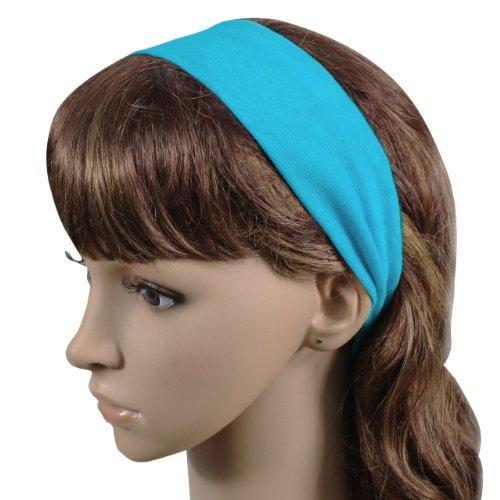 Wholesale Printable Cotton Headbands (12 Pack) (Light Blue)