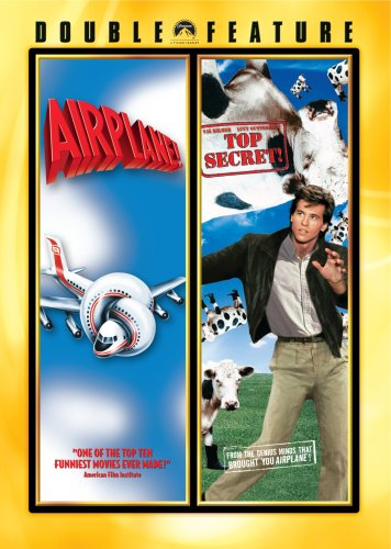 Cover art for  Airplane!/ Top Secret! (Double Feature)