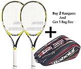Babolat Drive Z lite Racquet & Babolat Aero Line Racquet Holder X 12 (Black/Red) - Combo