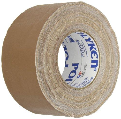 Polyken 510 Rubber Premium Grade Gaffer'S Tape, 50M Length X 72Mm Width, Brown