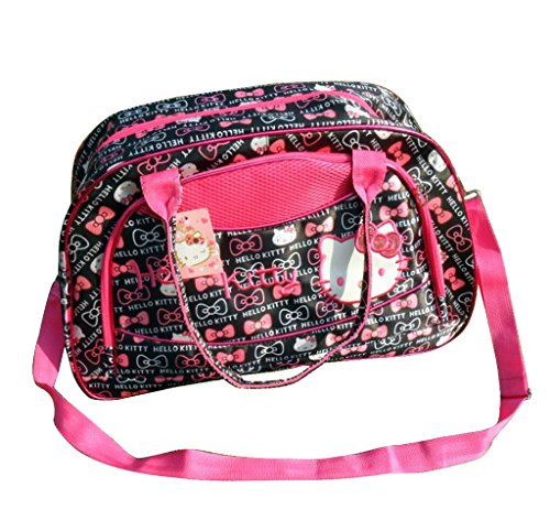 New Hello Kitty Travel Bag Lightest Carry On Holdall Shoulderbag /Handbag (Bowknot) front-913563