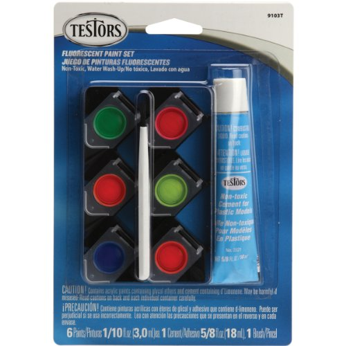 Testors Acrylic Paint Pot Set, Fluorescent - 1