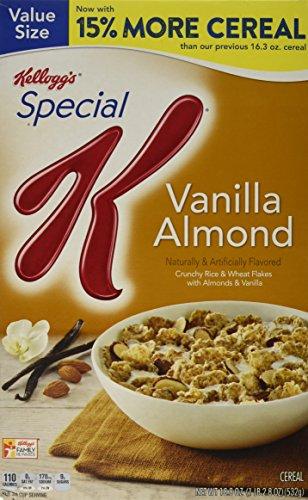 Special K Kellogg's Cereal, Vanilla Almond, 18.80 Ounce