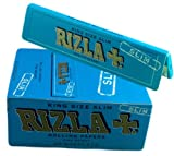 1 x RIZLA BLUE KING SIZE SLIM ULTRA THIN CIGARETTE GUMMED ROLLING PAPER BOOK BOOKLET