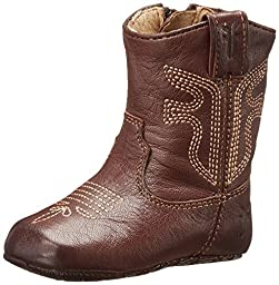 FRYE Rodeo Western Bootie (Infant/Toddler), Dark Brown, 3 M US  Infant