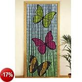 Wenko - Tenda richiudibile in legno di bambù, 90 x 200 cm Schmetterlinge