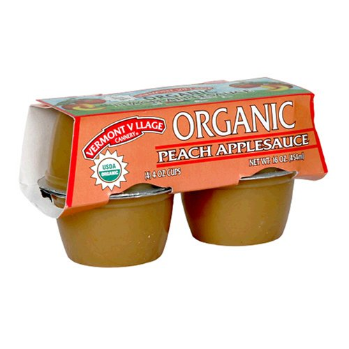 Applesauce, 95% organic, Peach , 4/4 oz (pack of 12 )
