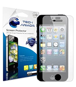 Tech Armor Anti-Glare & Anti-Fingerprint (Matte) Screen Protector with Lifetime Replacement Warranty for Apple iPhone 5 [3-Pack]