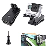 Luxebell Clip Clamp Mount, Backpack Hat Rec-mounts for Gopro Hero 4, Session, Black, Silver, Hero+ LCD, 3+, 3, 2, 1, Geekpro and Lightdow Sports Cameras