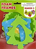 Christmas Foam Picture Frames Craft Kit - Christmas Tree, Wreath, Gift (Set of 3)