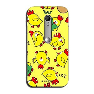 Mozine Reader Hen printed mobile back cover for Motorola moto x style