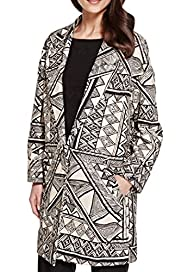 Abstract Print Coat [T62-0913J-S]