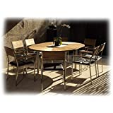 CATAX & VILLAX Gartenmöbel Sitzgruppe A 9-teilig Gartenset Zebra Teak recycelt & Leisuretex