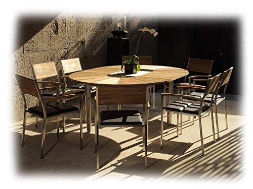 CATAX & VILLAX Gartenmöbel Sitzgruppe A 9-teilig Gartenset Zebra Teak recycelt & Leisuretex bestellen