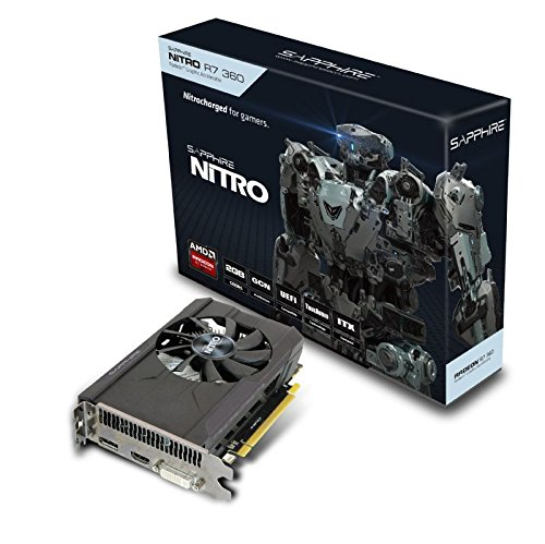 SAPPHIRE NITRO R7 360 2G DDR5 PCI-E/HDMI/DVI-I/DP OC VERSION (UEFI