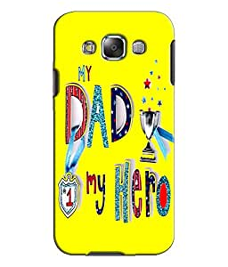EU4IA Dad My Hero Pattern MATTE FINISH 3D Back Cover Case For SAMSUNG GALAXY ...