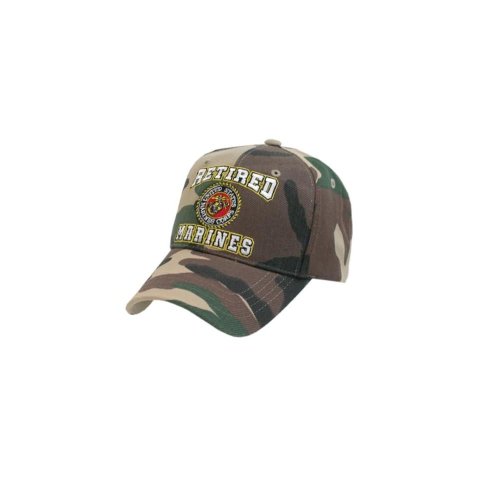 US Marines Camo Retired Military Baseball Caps Everything