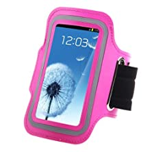 buy Touch Screen Pouch Sport Gym Running Jogging Armband Bag Shockproof Cell Phone Cases For Htc Lg Sony Screen 5-5.7 Inch (Rose(D91-9)