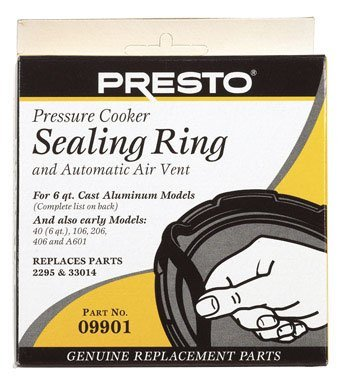 Presto Pressure Cooker Sealing Ring/Automatic Air Vent Pack (6 Quart)
