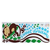 VivReal® Monkey Tree Branch Home Room Art Mural Wall Sticker Decal Paper Removable