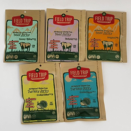 Field trip jerky all natural gluten free turkey beef