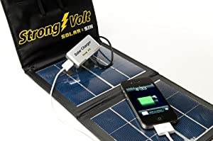 StrongVolt Solar:6 Charger- 6Watt Portable Folding Solar Kit - Solar Charges iPads, iPhones, Tablets, Phones or Anything with a USB Connection - Charge 2 Devices at the Same Time- Fall Promotion- Makes a Great Gift