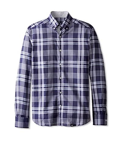 Stone Rose Men's Plaid Button-Up