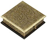 SouvNear 8x8 Inch Handmade Jewelry Box Decorated in Brass - Gifts for Her