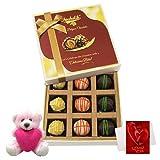 Valentine Chocholik Premium Gifts - Yummy Choco Treat With Teddy And Love Card