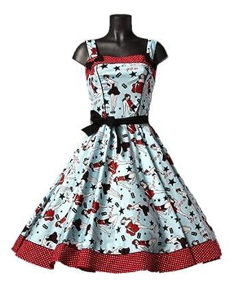 Hell Bunny 50's Dixie Dress - 4 (US), 10 (UK) at Amazon Women's