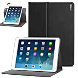 iPad Air 2 Case - Poetic iPad Air 2 Case [DuraBook Series] - Slim 360 Degree Rotary Standing Case for Apple iPad Air 2 Black (3 Year Manufacturer Warranty From Poetic)
