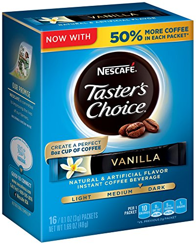 Nescafe Taster's Choice Vanilla 16 Piece Instant Coffee Beverage Single Serve Sticks, 1.69 oz (Beverage Serve compare prices)
