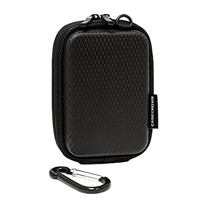 CaseCrown Hard Cover Foam Padded Camera Case (Black) for the Canon PowerShot SX200IS 12 MP Digital Camera
