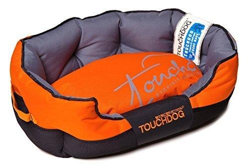 toughdog-performance-max-sporty-comfort-cushioned-dog-bed-sunkist-orange-black-lg-by-pet-life-llc
