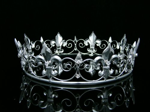 mens-full-kings-crown-for-theather-prom-party-clear-crystals-silver-plating-t373-by-venus-jewelry
