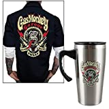 Gas Monkey Best Deals - Gas Monkey Garage Blood Sweat And Tears Travel Mug & Button-Up Work Shirt MD by CloseoutZone [並行輸入品]