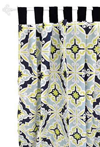 New Arrivals Curtain Panels, Starburst in Kiwi, 2 Count